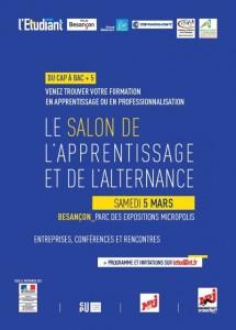 Visuel de l'Affiche salon de l'Etudiant de Besançon