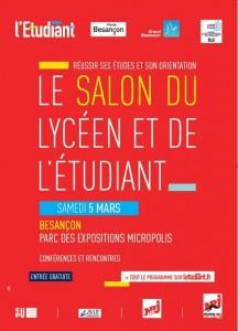 Visuel de l'affiche du salon de l'Etudiant de Besançon