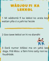 Conseils en peul préparés par Alpha